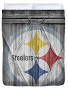 Pittsburgh Steelers Duvet Cover by Joe Hamilton