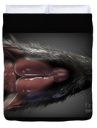 Rat Brain Anatomy Duvet Cover