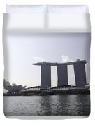 The Artscience Musuem And The Marina Bay Sands Resort In Singapore Duvet Cover