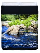 The Stream In Mountain Duvet Cover