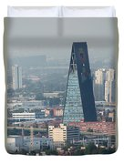 View From Torre Latinoamerican Duvet Cover