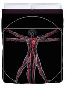 Vitruvian Man Duvet Cover