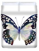 90 Angola White Lady Butterfly Duvet Cover by Amy Kirkpatrick