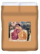 Sappho And Erinna In A Garden Duvet Cover