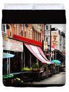 9th Street Italian Market Philadelphia Duvet Cover