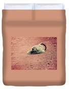 A Baboon On African Road Duvet Cover