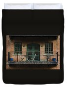 A Balcony On The River Aire Duvet Cover
