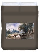 A Barge On The Stour Duvet Cover