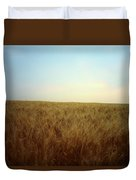 A Barley Crop Sways In The Wind Duvet Cover