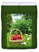 A Basket Of Strawberries Duvet Cover