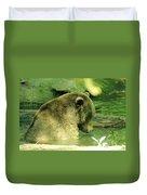 A Bear Bath Duvet Cover