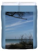 A Beautiful Day At A Florida Beach Duvet Cover