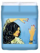 A Beautiful Girl 2 Duvet Cover