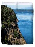A Beautiful Landscape At Deception Pass Duvet Cover
