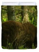 A Big Bruin Duvet Cover