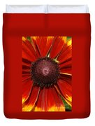 A Big Orange And Yellow Flower Duvet Cover
