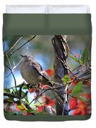 A Bird Enjoying The View Duvet Cover