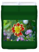 A Blooming Smile  Duvet Cover