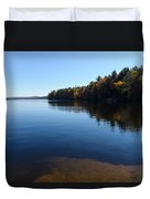 A Blue Autumn Afternoon - Algonquin Lake Tranquility Duvet Cover