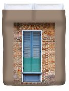 A Blue Door In New Orleans Duvet Cover