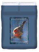 A Blue Morning Housefinch Duvet Cover