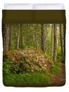 A Boulder In The Rainforest Duvet Cover