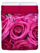A Bouquet Of Pink Roses Duvet Cover