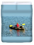A Boy And His Canoe Duvet Cover