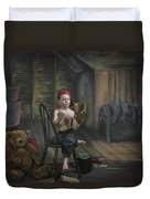A Boy In The Attic With Old Relics Duvet Cover