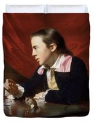 A Boy With A Flying Squirrel. Henry Pelham Duvet Cover