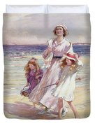 A Breezy Day At The Seaside Duvet Cover