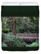 A Bridge In Central Park Duvet Cover