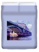 A Bridge In London Duvet Cover