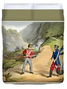 A British Soldier Taking Two French Duvet Cover by John Augustus Atkinson