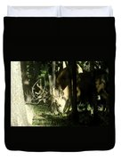 A Buck Deer Grazes Duvet Cover