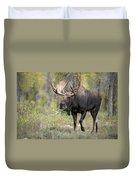 A Bull Moose Named Gaston Duvet Cover