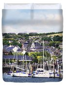 A Busy Harbour And Waterfrontkinsale Duvet Cover