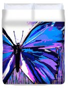 A Butterfly So Blue Duvet Cover