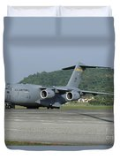 A C-17 Globemaster IIi Of The U.s. Air Duvet Cover