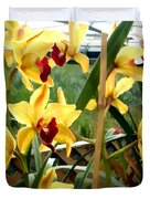 A Cage Of Canary Cymbidiums Duvet Cover