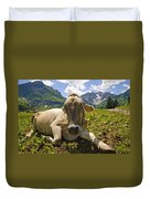 A Calf In The Mountains Duvet Cover