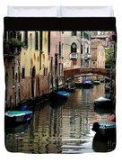 Calm Canal In Venice  Duvet Cover