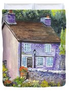 A Castleton Cottage In Uk Duvet Cover