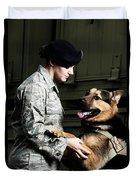 A Caucasian, Female Air Force Security Duvet Cover
