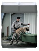 A Caucasian, Male Air Force Security Duvet Cover