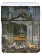 A Cavalcade In The Winter Riding School Of The Vienna Hof To Celebrate The Defeat Of The French Duvet Cover
