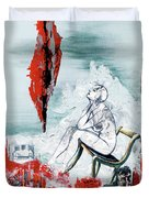 A Chair For My Heart Please - Thank You. Duvet Cover