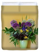 A Chanticleer Spring Bouquet Duvet Cover