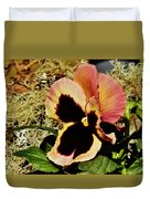 A Charming Pansy Duvet Cover