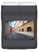 A Charming Street In Prague Duvet Cover